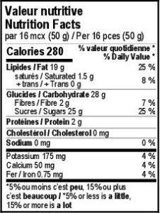 Maison Pra - Valeurs Nutritives Pacane Erable