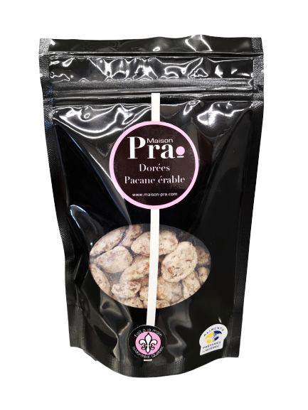 Nos produits - Maison Pra - Praline Pacane Érable