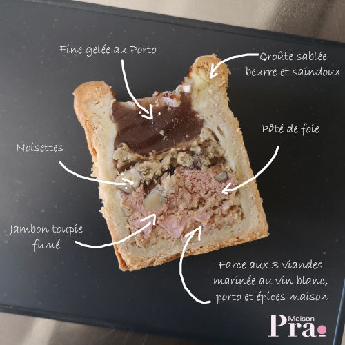 Pâté croûte Maison Pra - Porto, pur porc, jambon
